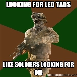 Call Of Duty Addict - LOOKING FOR LEO TAGS LIKE SOLDIERS LOOKING FOR OIL