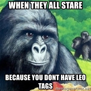 Jimmies Rustled - WHEN THEY ALL STARE BECAUSE YOU DONT HAVE LEO TAGS