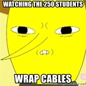 LEMONGRAB - Watching the 250 students wrap cables