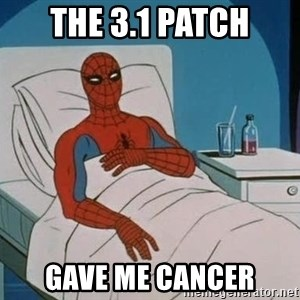 spiderman hospital - THE 3.1 PATCH GAVE ME CANCER