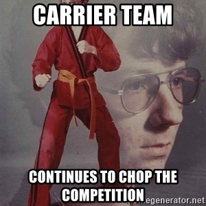 PTSD Karate Kyle - carrier team  continues to chop the competition
