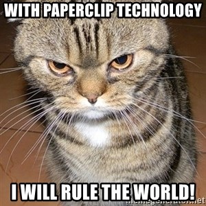 angry cat 2 - With paperclip technology I will rule the world!