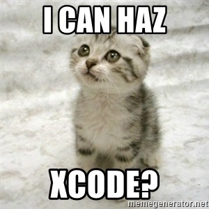 Can haz cat - I can haz xcode?