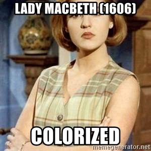 Chantal Andere - lady macbeth (1606) colorized