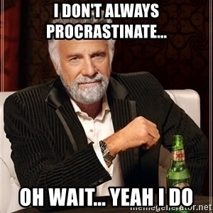 The Most Interesting Man In The World - I don't always procrastinate... Oh wait... yeah i do