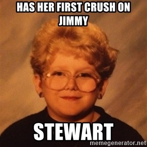 60 Year-Old Girl - Has her first crush on jimmy stewart