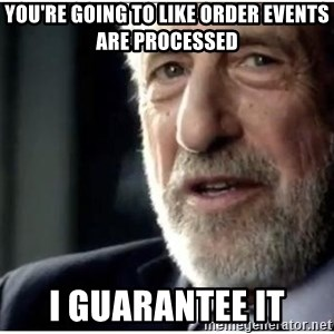 mens wearhouse - You're going to like order events are processed I guarantee it