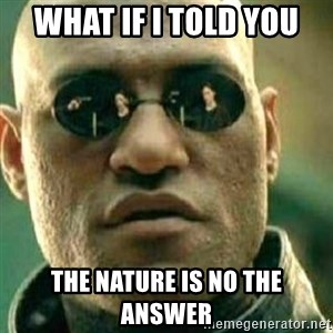 What If I Told You - What if i told you the nature is no the answer