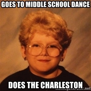 60 Year-Old Girl - GOES to middle school dance does the charleston