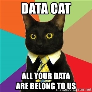Business Cat - Data cat all your data                                are belong to us