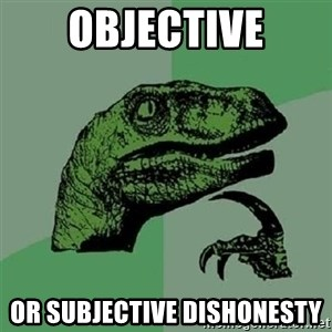 Velociraptor Xd - Objective or Subjective dishonesty