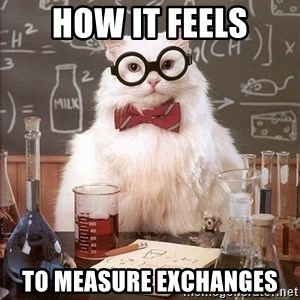 Chemistry Cat - how it feels to measure exchanges
