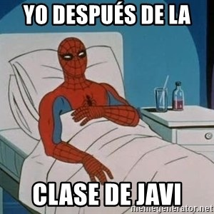spiderman hospital - yo después de la  clase de Javi
