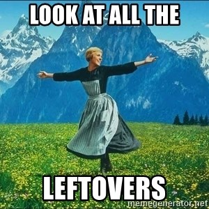 Look at all the things - Look at all the leftovers