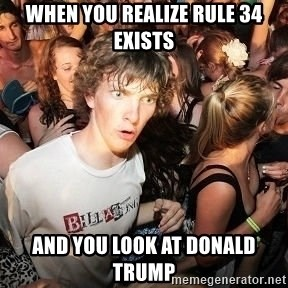 Sudden Realization Ralph - When you realize Rule 34 exists And you look at Donald Trump
