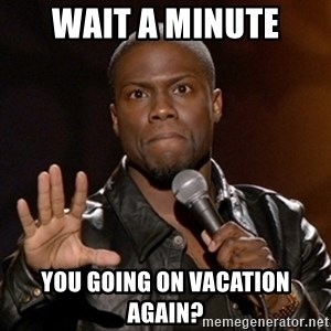Kevin Hart - Wait A minute You going on vacation again?