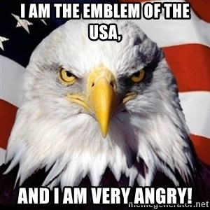Freedom Eagle  - I am the emblem of the USA, and I am very angry!