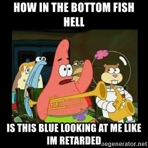 Patrick Star Instrument - how in the bottom fish hell is this blue looking at me like im retarded