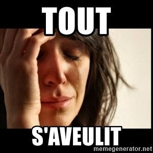 First World Problems - Tout S'aveulit