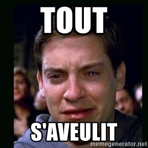 crying peter parker - Tout S'aveulit
