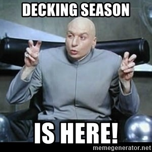 dr. evil quotation marks - decking season is here!