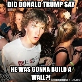 Sudden Realization Ralph - DID DONALD TRUMP SAY HE WAS GONNA BUILD A WALL?!