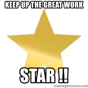 Gold Star Jimmy - Keep up the Great Work  STAR !!