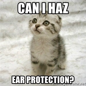 Can haz cat - Can I haz Ear Protection?