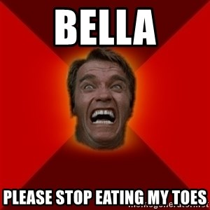 Angry Arnold - Bella Please stop eating my toes