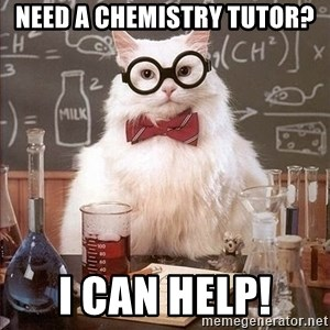 Chemistry Cat - Need a chemistry tutor? I can help!