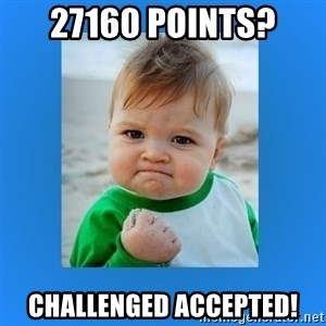 yes baby 2 - 27160 points? Challenged accepted!