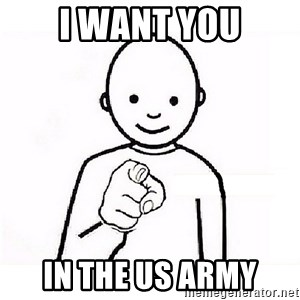 GUESS WHO YOU - i want you in the us army