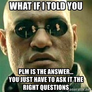 What If I Told You - what if i told you plm is the answer...                           you just have to ask it the right questions