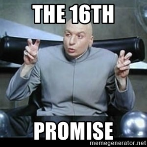 dr. evil quotation marks - The 16th promise