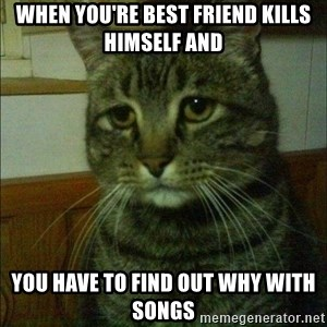 Depressed cat 2 - When you're best friend kills himself and  you have to find out why with songs