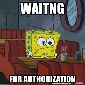 Coffee shop spongebob - WAITNG FOR AUTHORIZATION