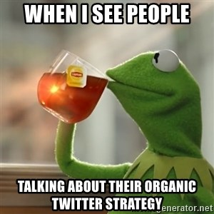 Kermit The Frog Drinking Tea - when i see people talking about their organic twitter strategy