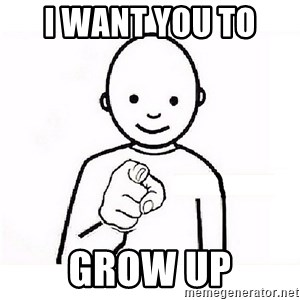 GUESS WHO YOU - I want you to  grow up