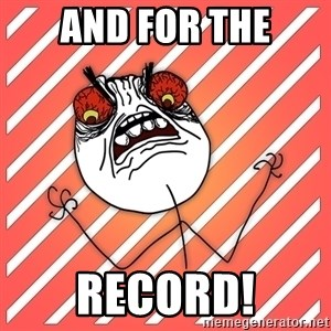iHate - and for the record!