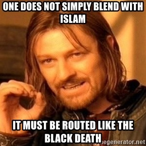 One Does Not Simply - one does not simply blend with islam it must be routed like the black death