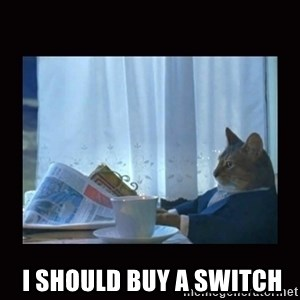 i should buy a boat cat - I should buy a switch