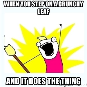 All the things - When You Step on a crunchy leaf and it does the thing