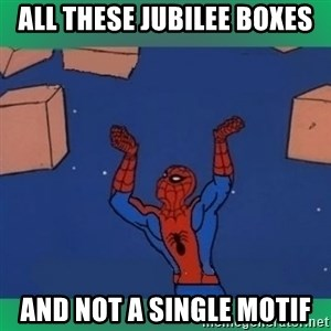 60's spiderman - All these jubilee boxes And not a single motif