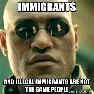 What If I Told You - immigrants and illegal immigrants are not the same people