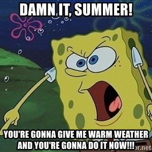 Screaming Spongebob - DAMN IT, SUMMER! YOU'RE GONNA GIVE ME WARM WEATHER AND YOU'RE GONNA DO IT NOW!!!