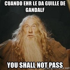 You shall not pass - Cuando EHR le da guille de Gandalf You shall not pass