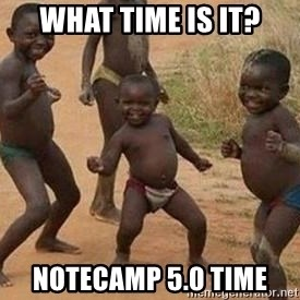 african children dancing - What time is it? NoteCamp 5.0 time