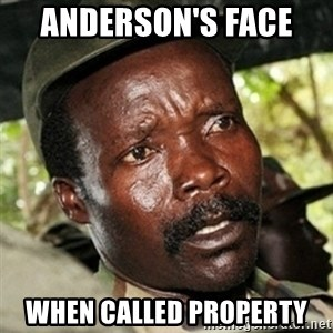 Good Guy Joe Kony - Anderson's Face  When Called Property