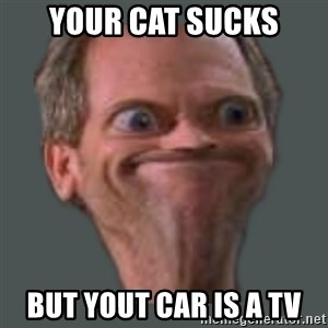 Housella ei suju - YOUR CAT SUCKS BUT YOUT CAR IS A TV