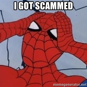 Hungover Spiderman - i got scammed